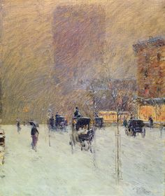 Winter Afternoon In New York Painting by Childe Hassam
