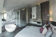 Formdepot Loft   Mayr & Glatzl Innenarchitektur GmbH #innenarchitektur #badezimmer #design #details Bathroom Lighting, Bathtub, Loft, Mirror, Furniture, Home Decor, Attic Rooms, Interior Designing, Homes