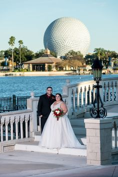 Castianne and Dustin added an EPCOT portrait session between their Magic Kingdom portrait session and their wedding ceremony in Canada.