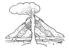 volcano coloring page google search
