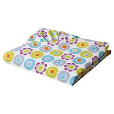 SUMERSAULT FITTED CRIB SHEET MIX & MACH COLLECTION 100 % COTTON DOTS & FLOWERS #Sumersault