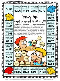 End of the Year Math Games for Fourth Grade: Summer Packet Activities Teaching Schools, Teaching Math, Teaching Ideas, Teaching Strategies, 4th Grade Math Games, Fourth Grade Math, Math For Kids, Fun Math, Maths