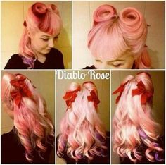 Vintage Hairstyles With Bangs Love this. And colour is perfect - Easy Vintage Hairstyles, Retro Hairstyles, Hairstyles With Bangs, Wedding Hairstyles, Bandana Hairstyles, Victory Curls, Pinup, Rockabilly Hair, Rockabilly Style