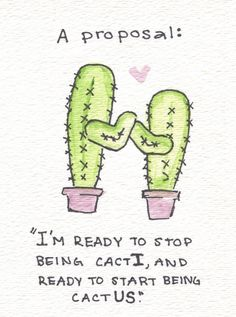 Two cacti becoming one cactus ... brilliant. #punny