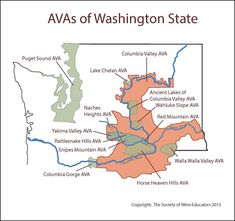 Wine Regions of Washington State #wine #wineeducation