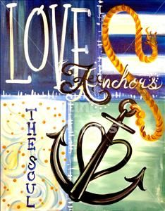 Anchor of Love - Tallahassee, FL Painting Class - Painting with a Twist