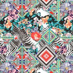Estampa Nanete Têxtil #malha #estampa #estamparia #colors #cores #verão2015