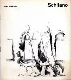 Mario Schifano. Roma, Galleria Odyssia, 1964. Catalogo di mostra 1964. Poesie di Nanni Balestrini. 7 ill. in nero anche a doppia pagina