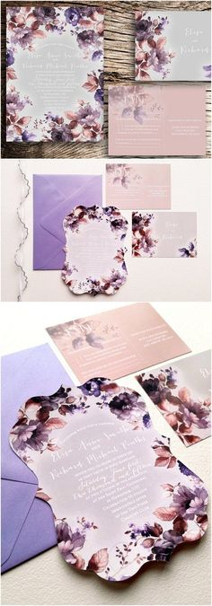 Die Cut Wedding Invitations - Floral Wedding Invitations die cut {Covington design ~ Ornate die cut}