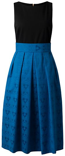 Closet Contrast Midi Dress, Blue on shopstyle.co.uk