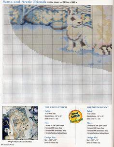 Schema punto croce Calza Babbonatale 21h
