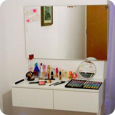minha penteadeira - quarto - menina - makeup - espelho - room