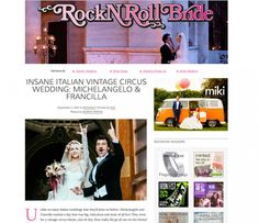 (Publication – featured) The wedding circus sur le blog Rockn'roll bride Photographer Italy www.maisonpestea.com Stylist : The wedding Circus www.theweddingcircus.com