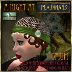 Second Life Marketplace - Bliensen + MaiTai Hair - Flashmans - Opium - DEMO - Flapper hair