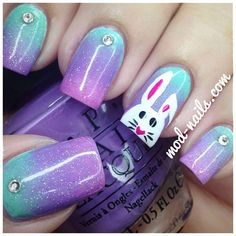 easter nails – The Best Nail Designs – Nail Polish Colors & Trends Easter Nail Designs, Easter Nail Art, Nail Designs Spring, Nail Art Designs, Nails Design, How To Do Nails, My Nails, Bunny Nails, Manicure E Pedicure