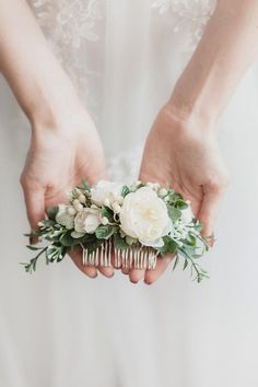 elegant bridal hair comb is made with artificial white flowers (warm shade. This elegant bridal hair comb is made with artificial white flowers (warm shade.This elegant bridal hair comb is made with artificial white flowers (warm shade. Bridal Hair Half Up, Wedding Hair Flowers, Hair Comb Wedding, Wedding Hair Pieces, Bridal Flowers, Flowers In Hair, White Flowers, Elegant Flowers, Bridal Comb