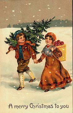 Bellissime cartoline di Natale vintage
