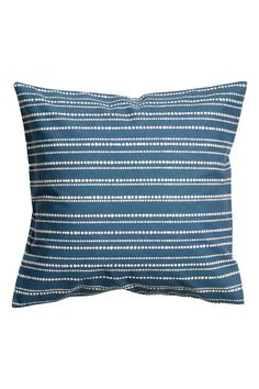 Cotton cushion cover - Blue/Striped - Home All | H&M GB 1