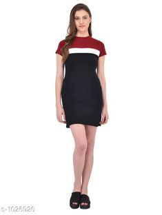 Dresses Women's Colorblocked Bodycon Cotton Dress  *Fabric* Cotton  *Sleeves* Sleeves Are Included  *Size* S - 36 in, M - 38 in, L - 40 in  *Length* Up To 34 in  *Type* Stitched  *Description* It Has 1 Piece Of Women's Dress  *Pattern* Striped  *Sizes Available* S, M, L *    Catalog Name: Cali Fashion Cycle Stylish Dresses Vol 2 CatalogID_124076 C79-SC1025 Code: 492-1026920-