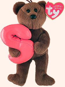 f7457c5e688 S - Alphabet Bear - Beanie Babies Beanie Baby Bears