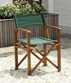 Outdoor Garden Chair Wooden Armchair Directors Weather Tex Fabric Patio Porch