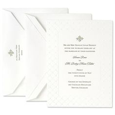 Letterpress Embassy Fluorescent White Invitation Set with Veil Frame- Crane. Not sure how I feel about white invitations.