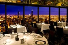 The Signature Room at the 95th in the John Hancock Tower in Chicago is the best dining experience!