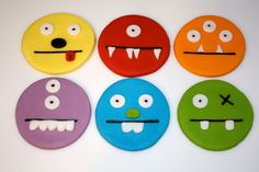 Fondant Kid Cupcakes, Monster Cupcakes, Fondant Cupcakes, Cupcake Cookies, Cupcake Toppers, Cupcake Ideas, How To Use Fondant, Birthday Fun, Birthday Parties