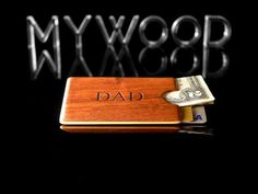 Personalized Wood Wallet Engraved Minimalist by MyWoodWallets