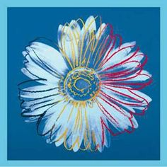 Andy Warhol Daisy Blue on Blue painting is shipped worldwide,including stretched canvas and framed art.This Andy Warhol Daisy Blue on Blue painting is available at custom size. Andy Warhol Flowers, Art Andy Warhol, Andy Warhol Museum, Roy Lichtenstein, Pop Art, Art Bleu, James Rosenquist, Galerie Creation, Oil Paintings
