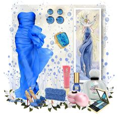 """""""The Colors: Brandeis Blue"""" by fiordiluna on Polyvore"""