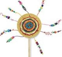 Sunshine on a Stick weaving projet...with pdf lesson plan and materials list. Grade 2-6 http://www.dickblick.com/lesson-plans/sunshine-on-a-stick/