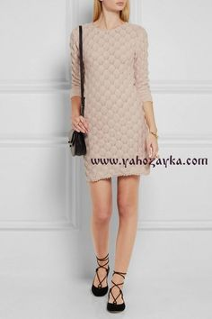 Красивый узор для платья со схемами. Узор для платья спицами | Я Хозяйка