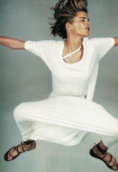 Stella Tennantphotographed by Craig McDean forHarper's Bazaar US May 1997.