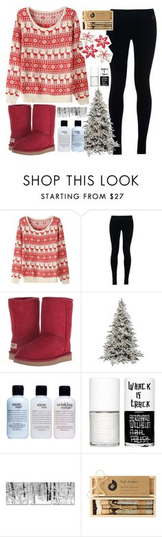 """""""Candy Cane Jane"""" by avamancuso ❤ liked on Polyvore featuring NIKE, UGG Australia, philosophy, Uslu Airlines and Truly Aesthetic"""