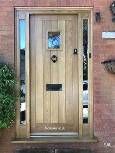 Oak Cottage Doors Framed Ledged Oak or Painted Hardwood Country Front Door, Cottage Front Doors, Oak Front Door, Cottage Porch, Porch Doors, Front Door Entrance, House Front Door, Front Door Canopy, Veranda Design