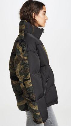 Sandy Liang - Catan Puffer Jacket in 2020 Puffer Jackets, Winter Jackets, Average Girl, Sandy Liang, China Fashion, Camo Print, Kappa, Creations, Outfits