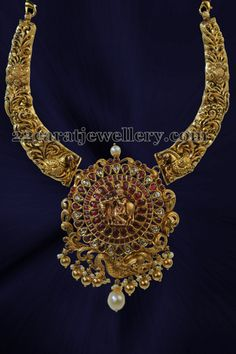Jewellery Designs: Filigree Design Set Krishna Pendant