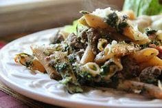 Spinach Pesto Pasta Bake
