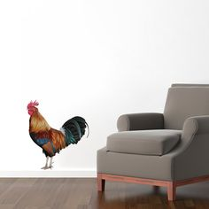 Real Life Rooster - Printed Wall Decal - Sweetums Wall Decals