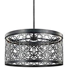 "Feiss Arramore 19""W LED Dark Zinc Outdoor Hanging Light - #1T808 | Lamps Plus"