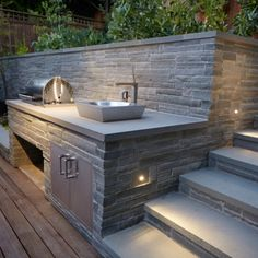 Bluestone Outdoor Kitchen | Outdoor Comfort designed and installed by Terra Ferma Landscapes