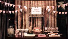 Girl Camping Party (Backdrop) @Kristin & @Shelley Parker Herke Parker Herke Parker Herke - for the girls!