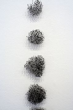 WHO: Katie Lewis. WHY: I like this use of pins as it is one of my key strengths and I like how the artist has used negative space in this piece. Katie Lewis, Wall Installation, Paper Flower Tutorial, Artist Portfolio, Pin Art, Negative Space, Contemporary Artists, Textile Art, Art Work