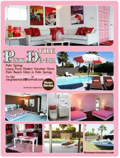 Tons of inspirational ideas for doll house furniture...The Pink Door Modern Vacation Home