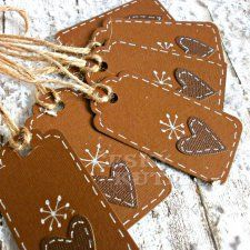 Z dílny Lucie Šichtancové Creative Bookmarks, Christmas Crafts, Christmas Decorations, Gift Packaging, Gift Bags, Cardmaking, Gingerbread, Crafts For Kids, Wraps