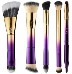 Tarte Rainforest of the Sea Collection for Spring/Summer 2016 Highlighter Brush, Double-Ended Foundation Brush, Color Correcting Brush, The Airbrusher Concealer Brush, Lip Brush Elf Makeup, Cute Makeup, Skin Makeup, Beauty Makeup, Cheap Makeup, Makeup Tarte, Crown Makeup, Eyebrow Makeup, Beauty Box