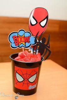 Superhero Party, Art Activities, Baby Boy, Birthday, Yuri, Cupcakes, Marvel, Spider Man Party, Spider Man Birthday