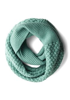 Chill Out on the Town Scarf in Teal - Solid, Knitted, Fall, Winter, Better, Variation, Mint