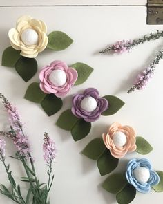 Floral flowercrown felt with leaves baby newborn to adult sized headband by beautifullybohox on Etsy